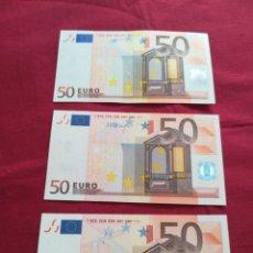 Lotes de Billetes: SET BILLETES 50 EURO 2002 FIRMAS DIFERENTES. Lote 209834097