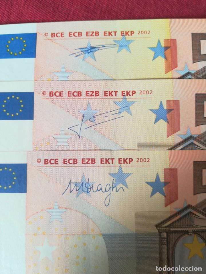 Lotes de Billetes: Set billetes 50 euro 2002 letra V España, tres firmas diferentes DUISENBERG, TRICHERT, DRAGI - Foto 2 - 211484525
