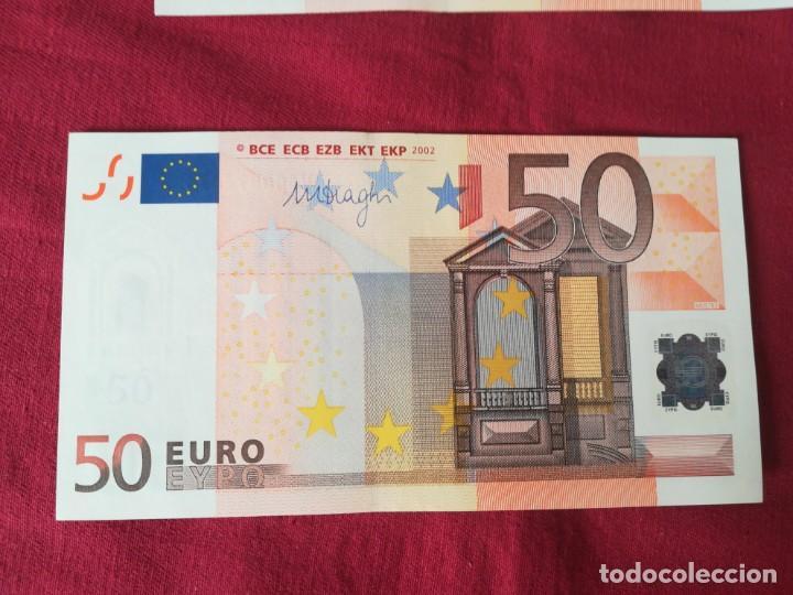 Lotes de Billetes: Set billetes 50 euro 2002 letra V España, tres firmas diferentes DUISENBERG, TRICHERT, DRAGI - Foto 3 - 211484525