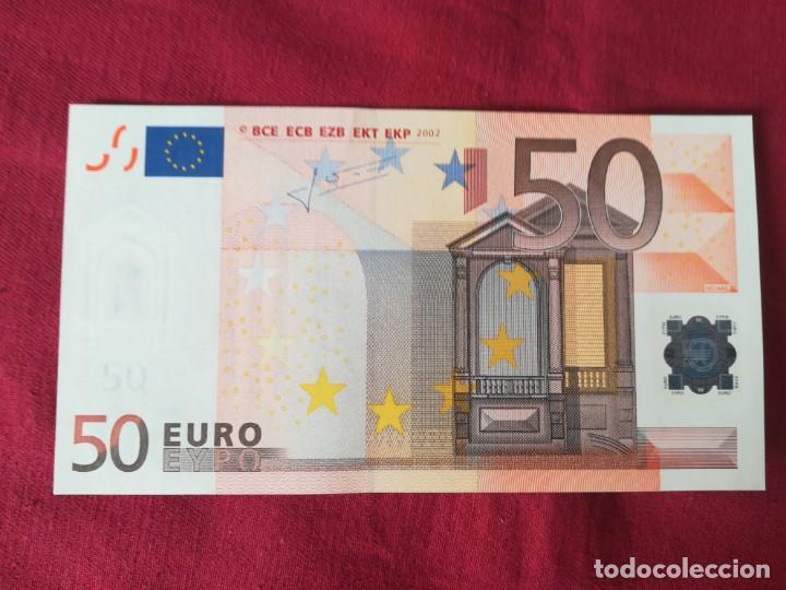 Lotes de Billetes: Set billetes 50 euro 2002 letra V España, tres firmas diferentes DUISENBERG, TRICHERT, DRAGI - Foto 4 - 211484525