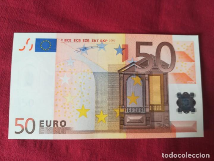 Lotes de Billetes: Set billetes 50 euro 2002 letra V España, tres firmas diferentes DUISENBERG, TRICHERT, DRAGI - Foto 5 - 211484525