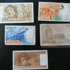 Lotes de Billetes: FRANCIA BILLETES LOTE DE 5. Lote 212800782