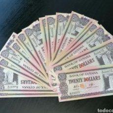 Lotes de Billetes: GUAYANA LOTE 20 BILLETES SC. Lote 212801008