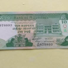 Lotes de Billetes: MAURICIO 10 RUPEES S/C. Lote 214725793