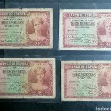 Lotes de Billetes: ESPAÑA LOTE 4 BILLETES 10 PESETAS 1935 BC - A BC++. Lote 215017666