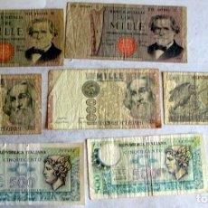Lotes de Billetes: 7 BILLETES DE ITALIA. Lote 216754313