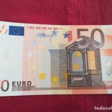 Lotes de Notas: BILLETE 50 EURO 2002 S/C LETRA V - ESPAÑA FIRMA DRAGI. Lote 218496841
