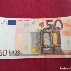 Lotes de Billetes: BILLETE 50 EURO 2002 S/C LETRA V - ESPAÑA FIRMA TRICHET. Lote 218497207