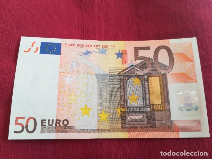 BILLETE 50 EURO 2002 LETRA V ESPAÑA, FIRMA DUISENBERG (Numismática - Notafilia - Series y Lotes)