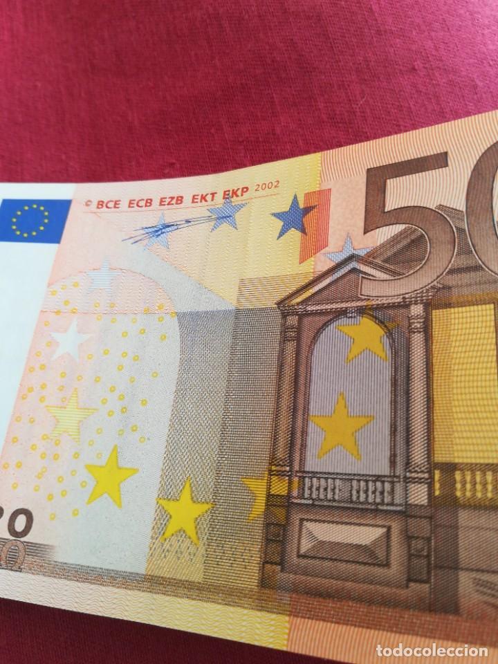 Lotes de Billetes: Billete 50 euro 2002 letra V España, firma DUISENBERG - Foto 3 - 232849885