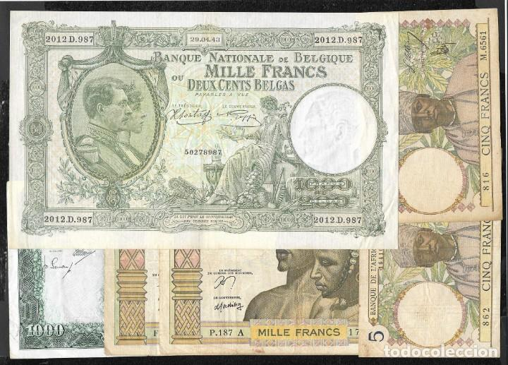 6 BILLETES 5-1000 FRANCOS 1000 PESETAS MBC/MBC+ (Numismática - Notafilia - Series y Lotes)