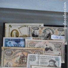 Lotes de Billetes: LOTE 2 DE 10 BILLETES ANTIGUOS FACSÍMILES (VER FOTO). Lote 219838555