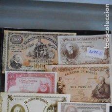 Lotes de Billetes: LOTE 5 DE 10 BILLETES ANTIGUOS FACSÍMILES (VER FOTO). Lote 219839175