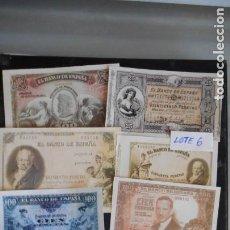 Lotes de Billetes: LOTE 6 DE 10 BILLETES ANTIGUOS FACSÍMILES (VER FOTO). Lote 219839302