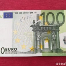 Lotes de Billetes: 100 EURO 2002 500 EURO 2002 SERÍA S ITALIA FIRMA TRICHET. Lote 220382136