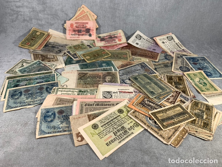 LOTE DE MÁS DE 200 BILLETES ALEMANES - (Numismática - Notafilia - Series y Lotes)