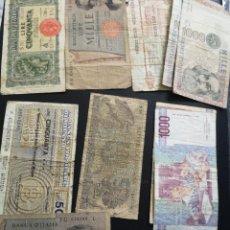 Lotes de Billetes: BILLETES DE ITALIA TOTAL 12 UNO DE 1944 ESCASO. Lote 220837058