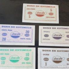 Lotes de Billetes: CUBA 5 BONO DE ESTIMULO CUBACAFE MINISTERIO AGRICULTURA. Lote 222028063