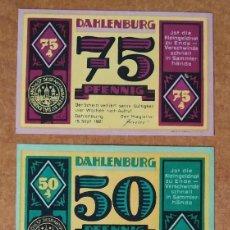 Lotes de Billetes: ALEMANIA. 3 BILLETES NOTGELD STADT DAHLENBURG (SERIE COMPLETA). SIN CIRCULAR!!!. Lote 222285426