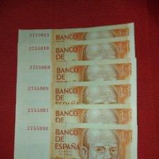 Lotes de Billetes: SIN SERIE 6 BILLETES CORRELATIVOS 200 PESETAS SC. Lote 222286588