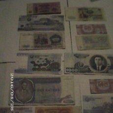 Lotes de Billetes: LOTE 16 BILLETES ( BILLETES PLANCHA NUEVOS Y ANTIGUOS ). Lote 222494485