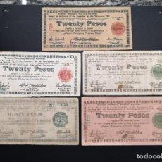 Lotes de Billetes: LOTE COLECCIÓN DE BILLETES EMERGENCIA DE 20 PESOS 1943 1944 1945 1948. Lote 223893965