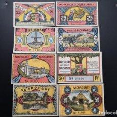 Lotes de Billetes: LOTE COLECCIÓN COMPLETA NOTGELD ALEMANIA PROVINCIA PRUSIA SCHLESWIG-HOLSTEIN SUCHSDORF 1921 UNC. Lote 225754417