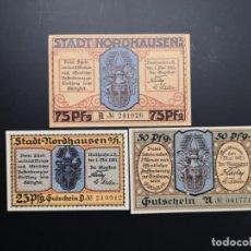 Lotes de Billetes: LOTE COLECCIÓN COMPLETA NOTGELD PROVINCIA PRUSIA SAXONY NORDHAUSEN 1921 UNC. Lote 225762980