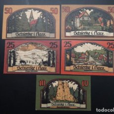Lotes de Billetes: LOTE COLECCIÓN NOTGELD ALEMANIA PROVINCIA PRUSIA SAXONY SCHIERKE UNC. Lote 226244211