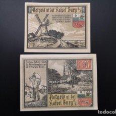 Lotes de Billetes: LOTE COLECCIÓN NOTGELD PROVINCIA PRUSIA HOLSTEIN BURG IN DITHMARSCHEN UNC. Lote 226248445