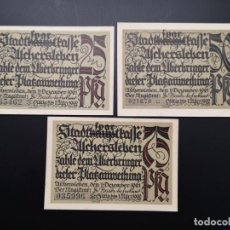 Lotes de Billetes: LOTE COLECCIÓN NOTGELD PROVINCIA PRUSIA SAXONY ASCHERSLEBEN UNC. Lote 226249415