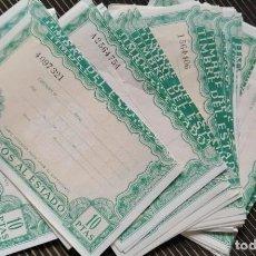 Lotes de Billetes: LOTE DE 10 PAGOS AL ESTADO - TIMBRE DEL ESTADO - NUEVOS - 10 PESETAS - DECIMA CLASE. Lote 227700280