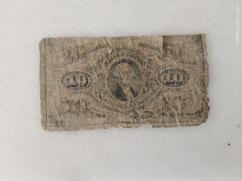 BILLETE USA CONFEDERADOS 1863 WASHINTONG (Numismática - Notafilia - Series y Lotes)