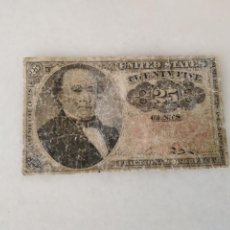 Lotes de Billetes: BILLETE USA 1874 ROBERT WALKER 25 CENTAVOS.. Lote 228137915
