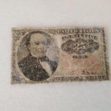 Lotes de Billetes: BILLETE USA 1874 ROBERT WALKER 25 CENTAVOS.. Lote 228137915
