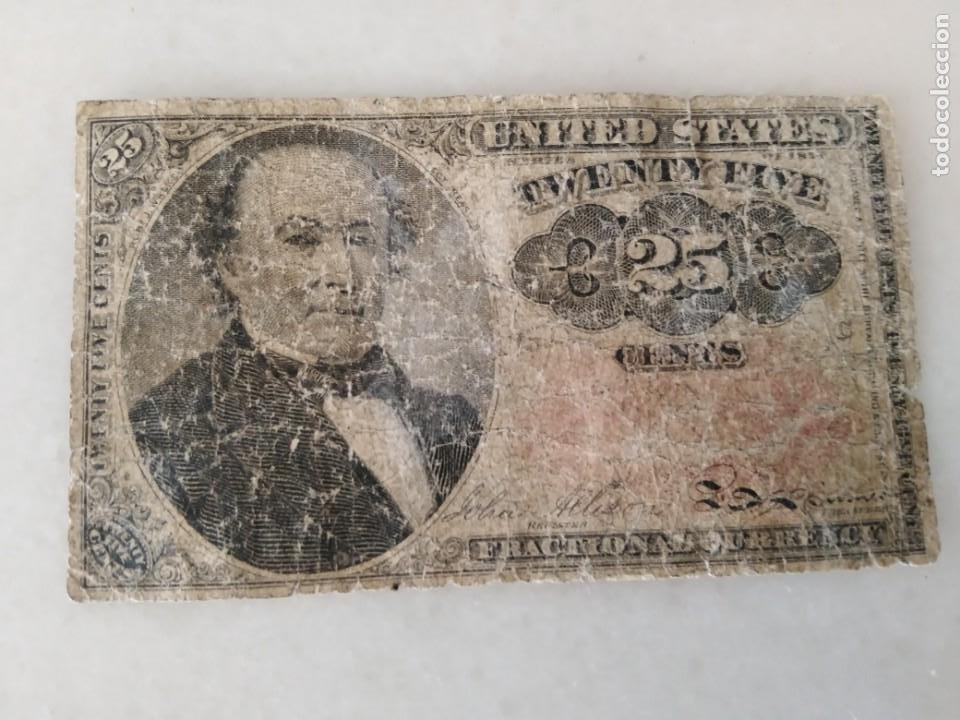 Lotes de Billetes: BILLETE USA 1874 ROBERT WALKER 25 CENTAVOS. - Foto 3 - 228137915