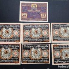 Lotes de Billetes: LOTE COLECCIÓN COMPLETA NOTGELD PROVINCIA PRUSIA SAXONY WEISSENFELS 1921 UNC. Lote 229475025