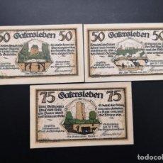 Lotes de Billetes: LOTE COLECCIÓN 3 VARIANTES NOTGELD PROVINCIA PRUSIA SAXONY GATERSLEBEN 1921 UNC. Lote 233638490