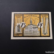 Lotes de Billetes: LOTE COLECCIÓN COMPLETA NOTGELD PROVINCIA ESTE DE PRUSIA TILSIT 1921 UNC. Lote 234801640