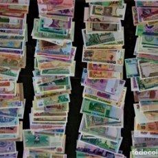 Lotes de Billetes: GRAN LOTE 150 BILLETES DEL MUNDO CALIDAD UNC TODOS DIFERENTES. Lote 235193355