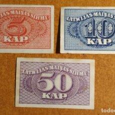 Lotes de Billetes: LETONIA. LOTE 3 BILLETES KAPEIKAS 1920. Lote 235828760