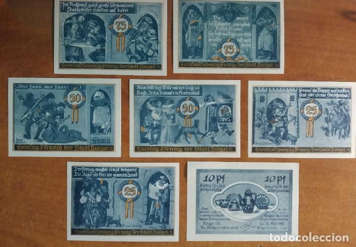 Lotes de Billetes: ALEMANIA. 7 BILLETES NOTGELD STADT BÜRGEL (SERIE COMPLETA). SIN CIRCULAR!!! - Foto 2 - 236031430