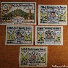 Lotes de Billetes: ALEMANIA. 5 BILLETES NOTGELD STADT BAD LAUTERBERG (SERIE COMPLETA). SIN CIRCULAR!!!. Lote 236035015