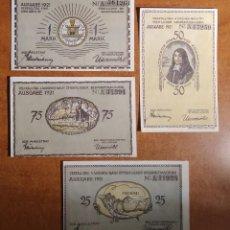 Lotes de Billetes: ALEMANIA. 4 BILLETES NOTGELD STADT PLÖN (SERIE COMPLETA). SIN CIRCULAR!!!. Lote 236035900