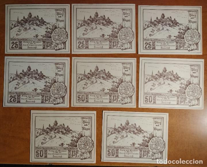 ALEMANIA. 16 BILLETES NOTGELD STADT BURG AD WUPPER (SERIE COMPLETA). SIN CIRCULAR!!! (Numismática - Notafilia - Series y Lotes)