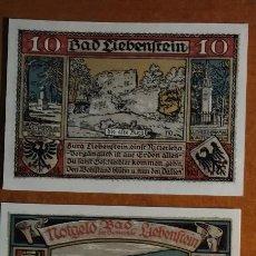 Lotes de Billetes: ALEMANIA. 3 BILLETES NOTGELD STADT BAD LIEBENSTEIN (SERIE COMPLETA). SIN CIRCULAR!!!. Lote 236039190
