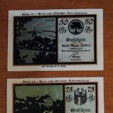 Lotes de Billetes: ALEMANIA. 4 BILLETES NOTGELD STADT BERGA (SERIE COMPLETA). SIN CIRCULAR!!!. Lote 236040785