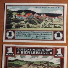 Lotes de Billetes: ALEMANIA. 3 BILLETES NOTGELD STADT BERLEBURG (SERIE COMPLETA). SIN CIRCULAR!!!. Lote 236040945