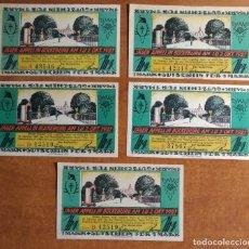 Lotes de Billetes: ALEMANIA. 5 BILLETES NOTGELD STADT BUCKEBURG (SERIE COMPLETA). SIN CIRCULAR!!!. Lote 236044940