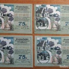 Lotes de Billetes: ALEMANIA. 4 BILLETES NOTGELD STAD BOCHUM (SERIE COMPLETA). SIN CIRCULAR!!!. Lote 236046380